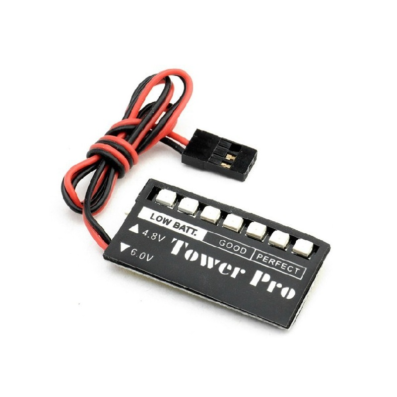 RC Model 7 LED Receiver Battery Voltage Indicator Monitor Car auto 4.8v Metal OI