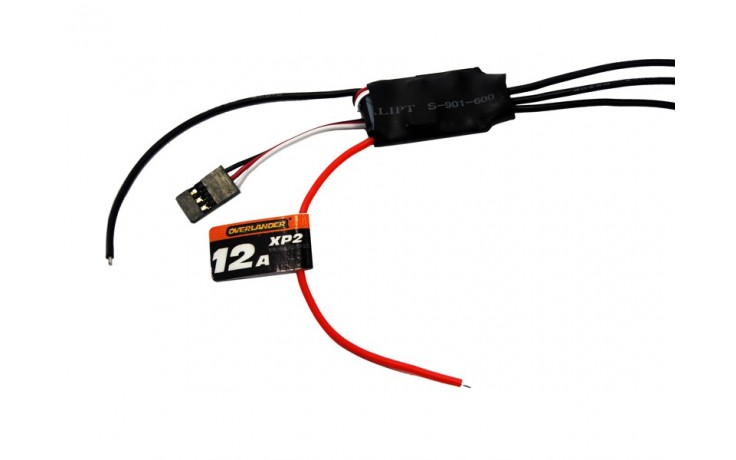 Overlander XP2 12A Brushless Speed Controller- SKU 2607