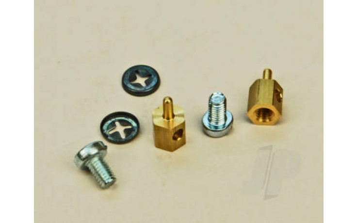 SL063 P/Rod Connector Brass (2)