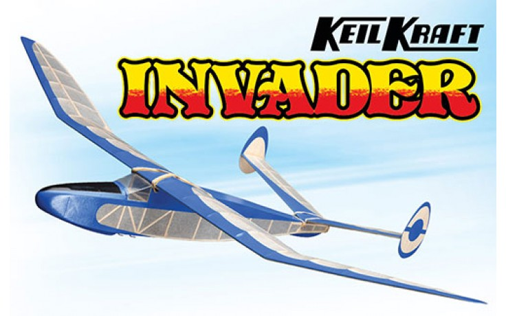Keil Kraft Invader Kit - 24.5 Inch Free-Flight Towline Glider