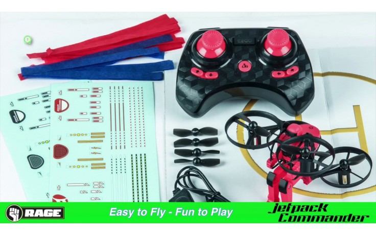 Rage Jet Pack Commander - Ready to fly quadcopter (red)