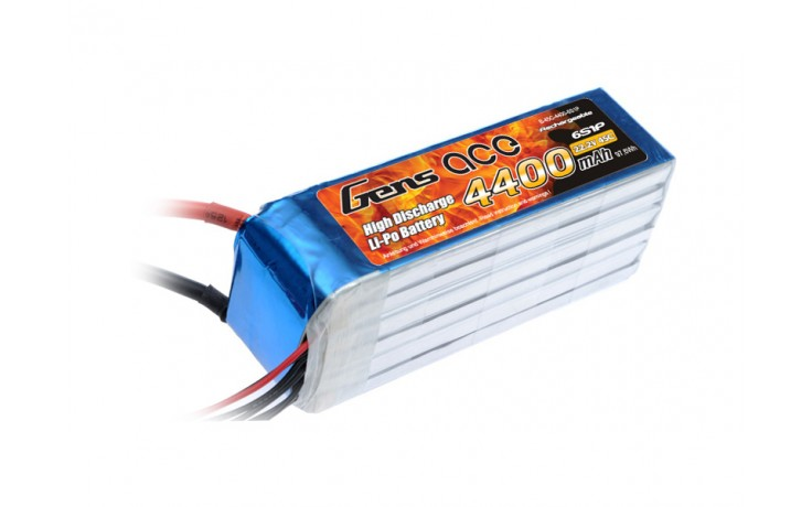 Li-Po 6S 22.2V 4400mAh 45C with EC5