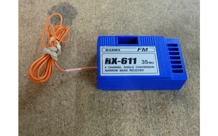 Sanwa RX-611 35mhz Receiver - Second Hand