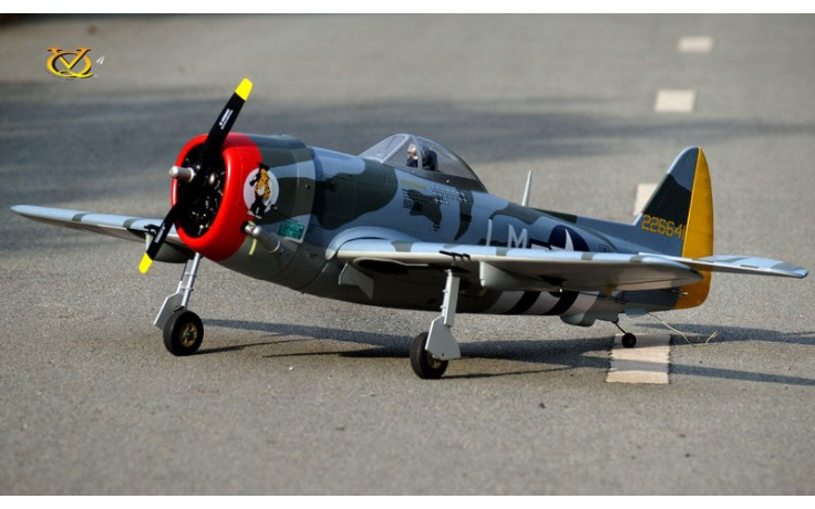 VQ P-47D Thunderbolt  (46-55 size EP-GP with Battery hatch) Camo Version  FOR PRE ORDER ONLY