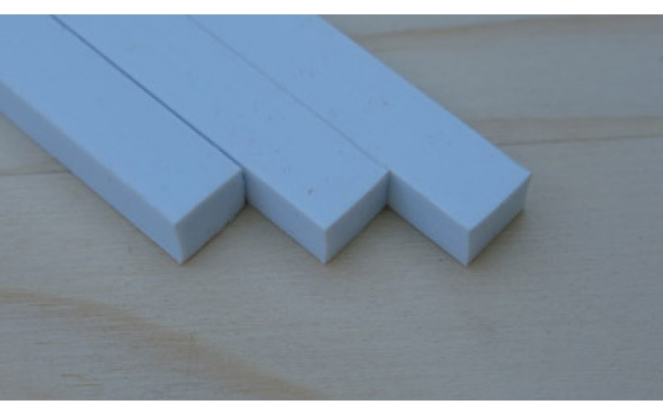 Plastic Strip 2.00mm x 3.20mm x 250mm 10 pieces