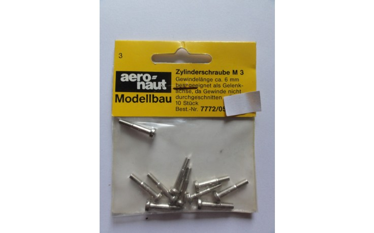 Aero Naut M3 20 mm bolts with 6 MM Thread