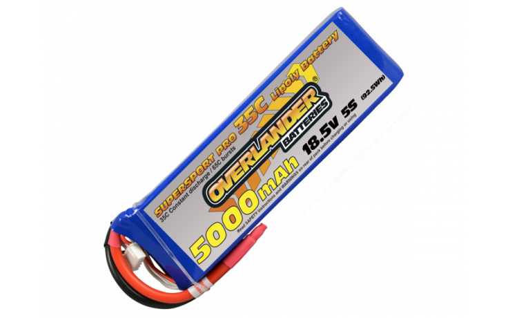 Overlander Supersport 5000mAh 5s 18.5v 35C LiPo