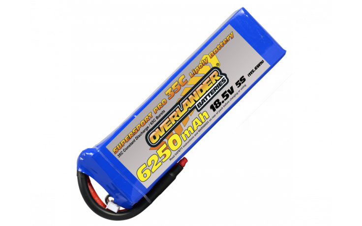 Overlander Supersport 6250mAh 5S 18.5v 35C LiPo