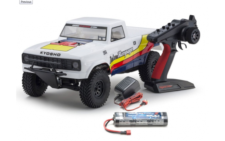 KYOSHO OUTLAW RAMPAGE 1:10 EP 2WD TRUCK (KT231P) READYSET - White