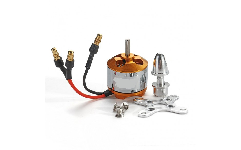 Brushless Motor 2212/7T 2450KV With Mount adapter and Plugs