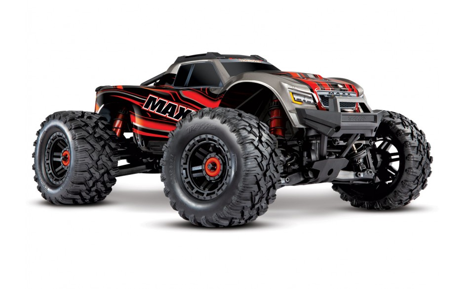 Traxxas Maxx 1/10 4WD VXL (TQI TSM No Battery No Charger) Red