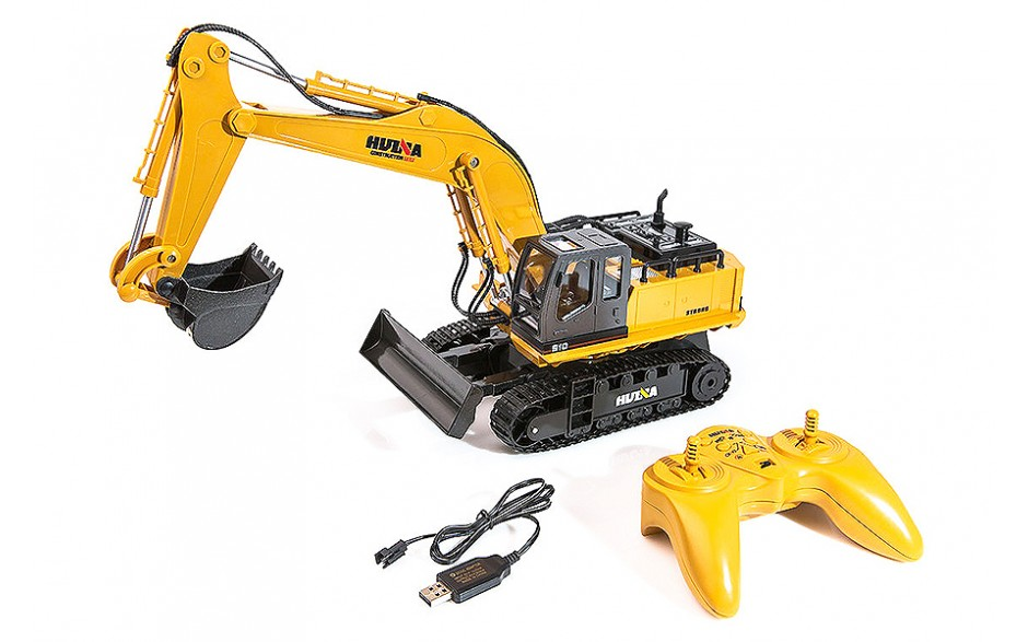 HUINA 1/16 SCALE RC EXCAVATOR 2.4G 11CH WITH DIE CAST BUCKET