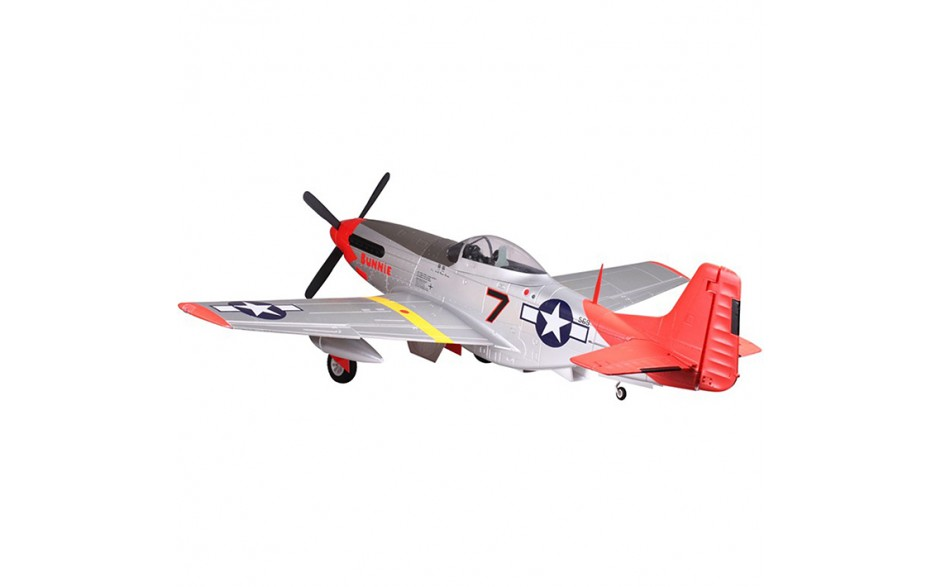 Fms 1700mm P 51 Mustang Red Tail Artf Warbird With Out Tx Rx Batt