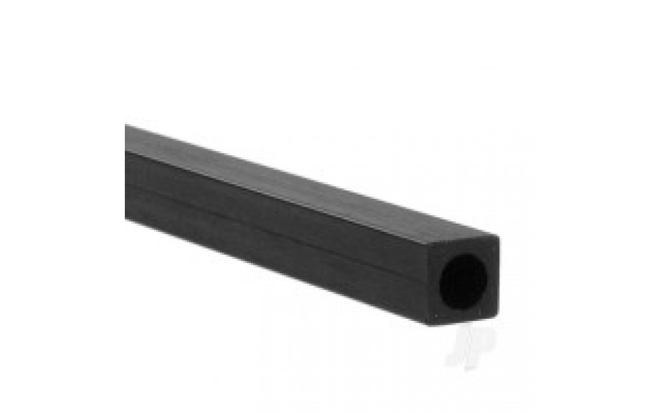 Approx 1.5ft x 1mm x 6mm Carbon Fibre Square Round Tube with 4.8mm Centre Hole
