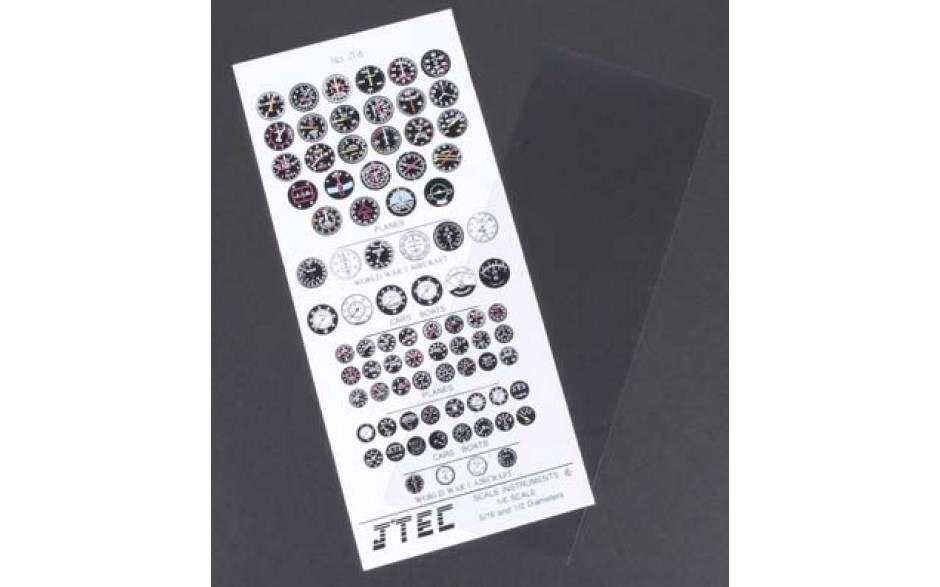 JTEC Colour Scale Instrument Kit 1/7 Scale