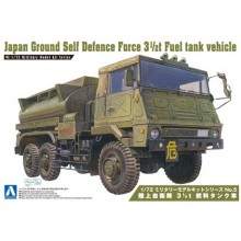 Plastic Kit Aoshima 1/72 Plastic Aoshima kit of  Japan Ground Self Defense Force 3 1/2 ton Fuel tank vehicle