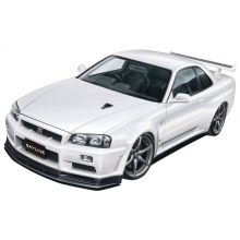 NISSAN R34 SKYLINE GT-R PRE-PAINTED WHITE PEARL BODY SHELL