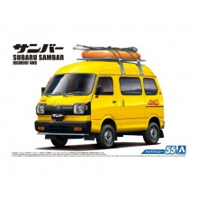 Plastic Kit Aoshima SUBARU SAMBAR HIGH ROOF 4WD 1980 05422