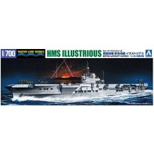 Aoshima 1/700 Waterline British Aircraft Carrier HMS Illustrious Attack of Benghazi Limited Edition 059418