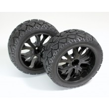 Absima 1:10 Buggy Tires on-road front black (2)