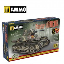 Plastic Kit Ammo by Mig Jimenez 1/16 Panzer I Ausf. A Breda Spanish Civil War light tank kit