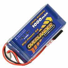 1000mAh 2S 7.4v LiPo Battery Receiver Pack - Overlander Digi-Power
