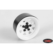 RC4WD 5 Lug Wagon 1.9 scale Steel Stamped Beadlock Wheels WHITE Pin Mount realistic[(1) ONE WHEEL