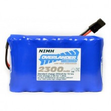 Nimh Battery Pack LSD AA 2300mAh 7.2v Reciever Flat with Tamiya Connector
