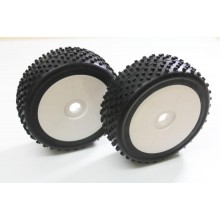 Absima Wheel Set Buggy Disc / Dirt white 1:8 (2 pcs)
