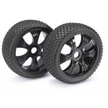 Absima Wheel Set LP Buggy Dirt black 1:8 (2 Pair)