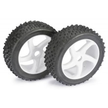 Absima Wheel Set Buggy 5 Spoke / Dirt white 1:8 (2 pcs)