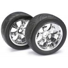 Absima Wheel Set LP Truggy Street chrome 1:8 (2 Pair) (BOX70)