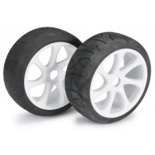 Absima Wheel Set Buggy 7 Spoke / Street white 1:8 (2 pcs)