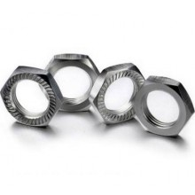 Hex lock Nut 17mm silver (4 St.)