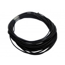 4mm Soft Silicone Wire 12AWG Black 1m Length - SKU 2890