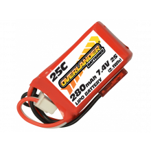 280mAh 2S 7.4v 25C LiPo Battery for Blade UMX Beast
