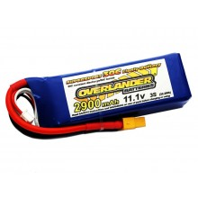 Overlander 2900mAh 3S 11.1v 35C Supersport XT60 Connector