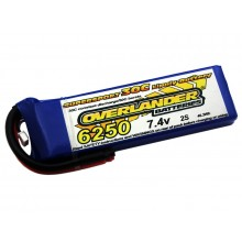 Lipo Batteries 6250mAh 2S 7.4v 30C SUPERSPORT- SKU 2779