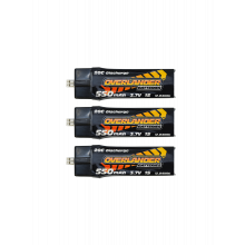 Push-In 550mAh 3.7V 1S 20C LiPo Battery (3 Pack)