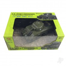 1:30 U.S. M4A3 Sherman Ready to Run on 2.4ghz RC Tank by Henglong