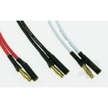4mm Gold Connector Set (3 Pair) 15cm Silicone Lead