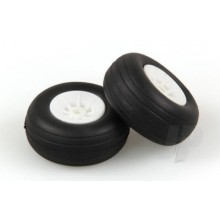 1.1/2in - (37mm) White Wheels (2)