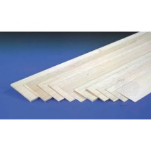 1.0mm x 100mm x 1m Sheet Balsa