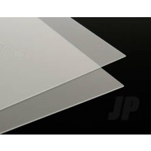 20THOU. Clear Plastic Sheet (Plastiglaze) .50mm 9X12ins x 15