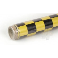 Oracover (Profilm) Pearl Cheq. Large Yellow/Black 2 metre (5523710)