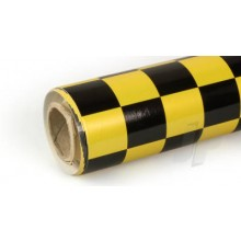 Oracover (Profilm) Pearl Cheq. Large Yellow/Black 10 metre
