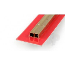 9853 5 x 5 x .45mm Wall Square Brass Tube (300mm) (2)