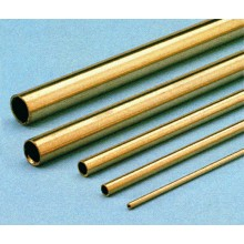 Hard brass tubing 8 0/7 1 mm - 1 metre