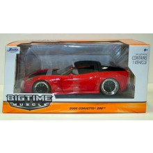 BigTime Muscle 2006 Corvette Z06 1/24 Diecast Model Car 96804