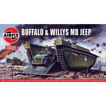 Plastic Kit  Airfix Buffalo Willys MB Jeep